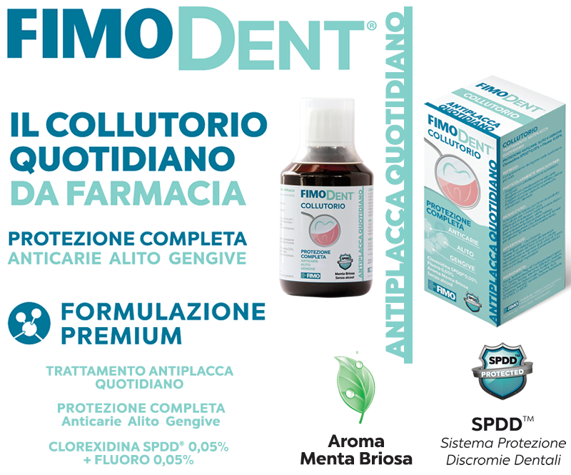 FIMODENT Collutorio Antiplacca Quotidiano Clorexina SPDD 0,05% + Fluoro 0,05%